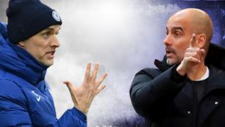 Chelsea boss Thomas Tuchel and Manchester City manager Pep Guardiola