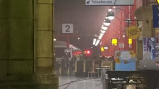 Smoking concourse at London Marylebone station