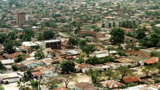 Vue aérienne de Kinshasa, la capitale de la RDC où le chargé d'affaires nigérian a été délogé.