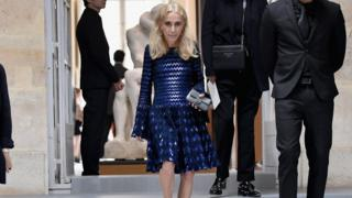 Franca Sozzani attends the Christian Dior show at Paris Fashion Week on 30 September 2016