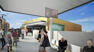 Artist's impression of South Shields transport interchange