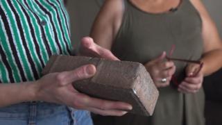 Brick that was thrown through window