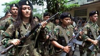 Farc rebels, 2001
