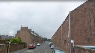 The baby was found at a house in St Vigeans Road