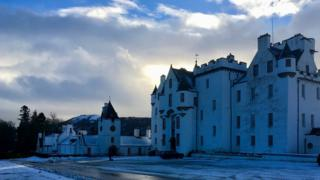 Snowy Blair Castle