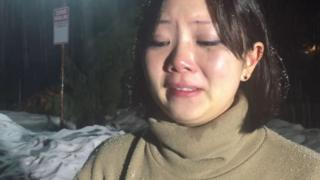 Dyne Suh spoke emotionally about the incident after her room was cancelled
