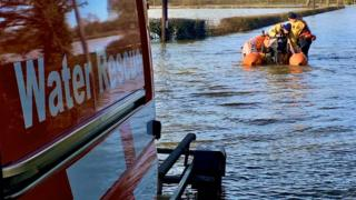 Shrewsbury Fire Station's boat crew in Melverely