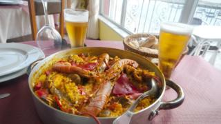 Beer and Paella