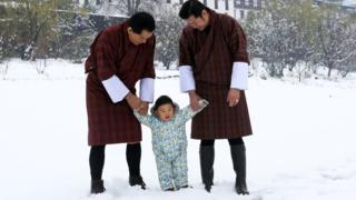 Jigme Singye Wangchuck, Jigme Khesar Namgyel Wangchuck e HRH Gyalsey Jigme Namgyel