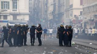 England fans clashed with police on the streets of Marseille