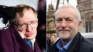 Stephen Hawking and Jeremy Corbyn
