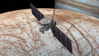 Impressão artística da sonda Clipper