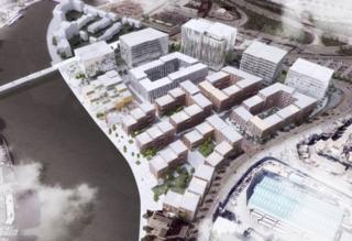 Belfast Waterside development will include office space, homes, a creative hub and a hotel