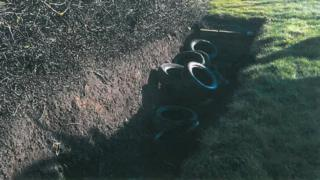 Car tyres disposed of illegally in Nottingham