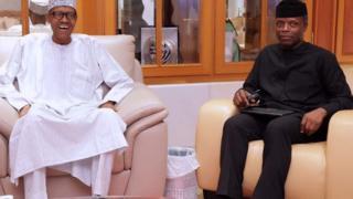 President Buhari and Vice-President Osinbajo
