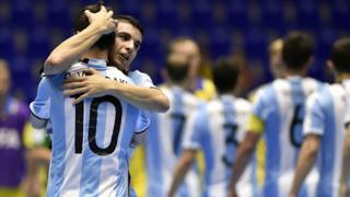 Argentina celebra una victoria.