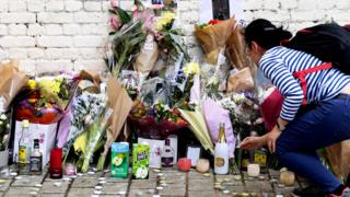 Floral tributes in London
