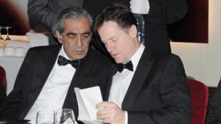 Sudhir Choudhrie and Nick Clegg