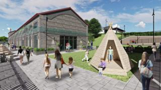 Artist impression of proposed Barry Goods Shed development