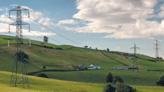 Pylons in Cumbria