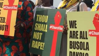 Protesters bin match go COZA headquarters on Sunday