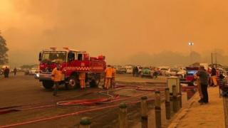 Firefighters at Mallacoota