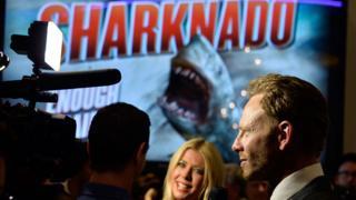 Tara Reid and Ian Ziering at the 2013 premiere of Sharknado