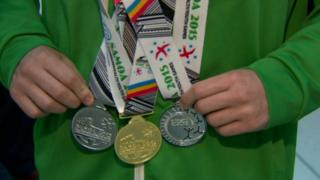 Commonwealth Youth Games medals are pictured