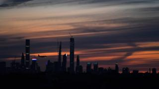 View of Manhattan at sunset (file image)