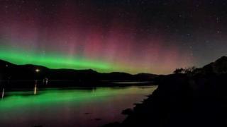 Northern lights over Barmouth, Gwynedd