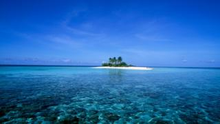 The island of Dunikolu in the Republic of Maldives in the Indian Ocean.