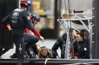 Duchess of Cambridge sails the Solent