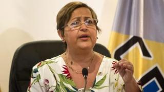 President of National Electoral Council of Venezuela, (CNE), Tibisay Lucena,