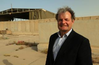 Graham Binns at the Basra airbase