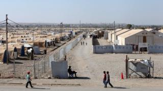 صورة لمخيم حمام العليل في العراق