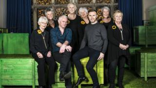 Gary Barlow, Tim Firth and the original Calendar Girls