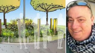 Tribute garden and Alan Henning