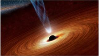 Artist's impression of a black hole