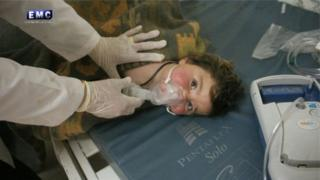 قتل العديد من الأطفال خلال الهجوم الكيماوي على خان شيخون في محافظة إدلب السورية