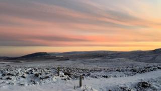 A sunrise on the Dava Moors near Carrbridge