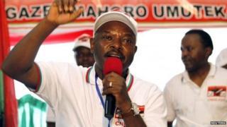 Prezida Pierre Nkurunziza yiyamamariza amatora yo mu 2015
