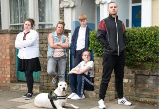 The Taylor family in EastEnders