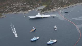The Norwegian frigate KNM Helge Ingstad and the tanker Sola TS collided in the Hjeltefjorden, north of the Sture terminal in Øygarden municipal in Hordaland