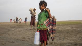 Desperate Rohingya continue to arrive by boat from Myanmar as land crossing become more difficult September 16, 2017