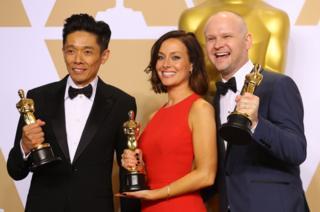 Soldan Sağa: Kazuhiro Tsuji, Lucy Sibbick ve David Malinowski