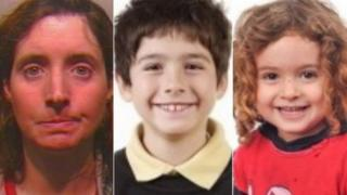 Angela Lambert, 45, and six-year-old Cyrus and two-year-old Maryam