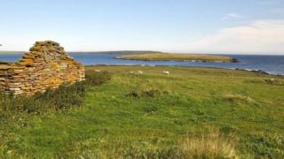 View from Orkney island