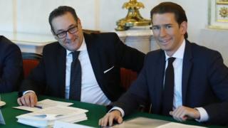 Heinz-Christian Strache e Sebastian Kurz
