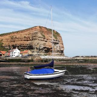 Staithes harbour in North Yorkshire