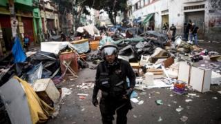 Полицейская операция в Сан-Паулу